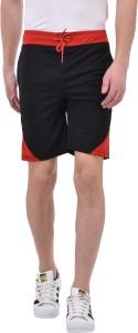 Tej star Solid Men's Black Night Shorts