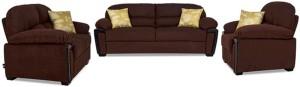 Comfy Sofa Classy Fabric 3 + 2 + 1 Maroon Sofa Set