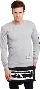 Fugazee Lifestyle Solid Men's Round Neck Grey T-Shirt