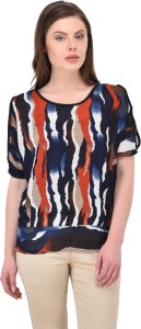 SVT ADA COLLECTIONS Casual Half Sleeve Solid Women's Multicolor Top