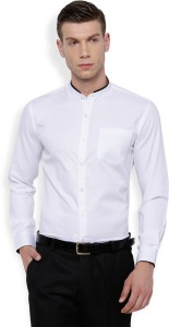 Mark Taylor Men's Solid Casual White Shirt