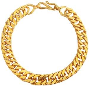 Rich Famous Alloy 24k Yellow Gold Bracelet