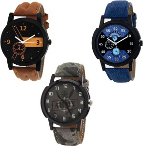 keepkart Fast Selling Boys Nd Man Watches Combo Of - 3 Analog Watch  - For Men