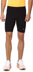 info for 4aad9 4c92c PUMA Solid Men s Black Compression Shorts Price List