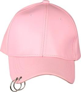 Merchanteshop Leather Women Pink Base Ball with Ring Cap