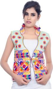 Banjara India Sleeveless Embroidered Women's Jacket