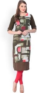 61c52542466 Vishudh Solid Women s Straight Kurta Dark Green Best Price in India ...