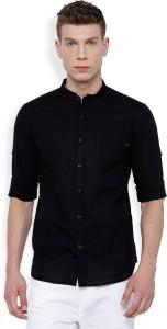 Locomotive Men's Solid Casual Black Shirt