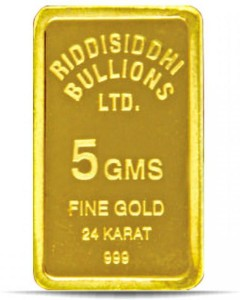 Candere 24 (9999) K 5 g Yellow Gold Bar