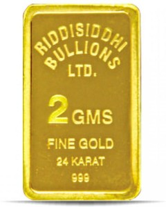 Candere 24 (9999) K 2 g Yellow Gold Bar