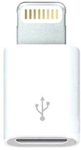 SHOPCRAZE Lightning 8 Pin to Micro USB Converter - Sync Charge Iphone 5 Ipad Mini 4 Apple USB Cable (White) Sync & Charge Cable