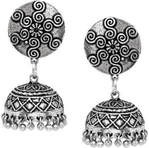 10414b0d07 V L IMPEX Black Metal Oxidized Silver Women Fashion Jhumka Alloy Jhumki  Earring Best Price in India | V L IMPEX Black Metal Oxidized Silver Women  Fashion ...