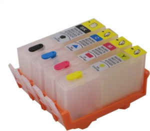 Max 685 Empty Refillable Cartridge For Use In HP 3525 / 4615 / 4625 / 5525 / 6525 Printers Multi Color Ink