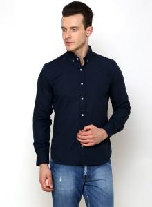 Rigo Men's Solid Casual Blue Shirt