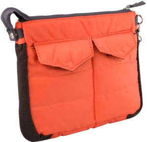 Shadowfax New Gadget Travel Storage Organizer Bag Purse Zip & Cushion Orange