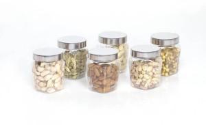 STEELO 6 Pieces PET Squarish  - 250 ml Plastic Food Storage