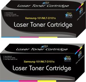 Printstar 101 Black Toner Cartridge Comaptible For Samsung 101 Toner/Mlt-d101s - Pack of 2 Single Color Toner