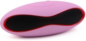Koloredge Pink Rugby Powerful Sound Speaker Portable Bluetooth Mobile/Tablet Speaker