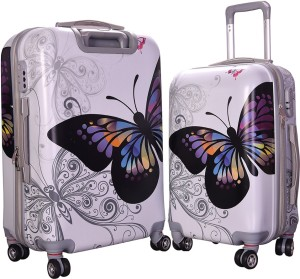 Fortune Butterfly Printed Luggage Check-in Luggage - 20.24 inch