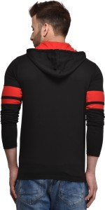 9702ff10a8eb Kay Dee Solid Men s Hooded Black T Shirt Best Price in India