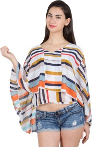 G & M Collections Formal Kimono Sleeve Printed Women's Multicolor Top