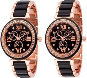 Fashion Gateway Supper Hot Collection (pack of 2) Luxury Watch  - For Women