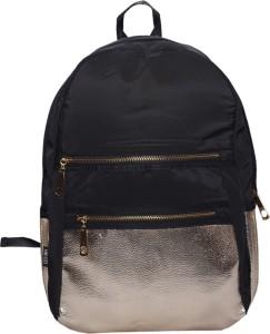 e5952c23c3e Ruff Ruff Black School bag Casual Style Women Backpack Bags Double-Shoulder  Sweet Stripe Canvas School Collage Travel Bag Girls Backpack 3.5 L ...