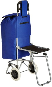 Shrih Multi-Purpose Trolley With Foldable Chair Travel Duffel Bag