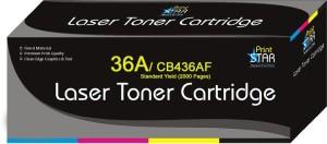 Printstar Cartridge 36A / CB436AF Black Toner Cartridge Compatible for HP LaserJet P1505 , HP LaserJet P1505n Single Color Toner