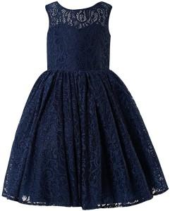 3233aae0cc Fairy Dolls Girl s Midi Knee Length Party Dress Blue Sleeveless Best ...