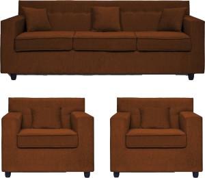 Comfy Sofa classy Fabric 3 + 1 + 1 Brown Sofa Set