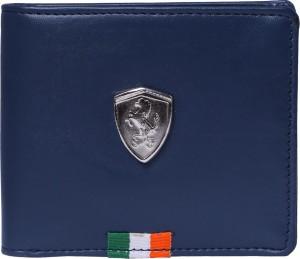 Ferrari shining Men Blue Artificial Leather Wallet