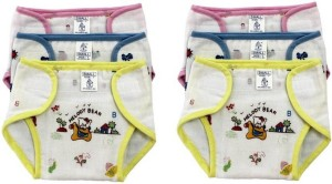 Aayat Kids New Just Born Photo Print 100% Inside Outside Cotton Double Cloth Washable Reusable Padded Cushioned Diaper