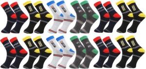 Ebiz Men's Striped Ankle Length Socks
