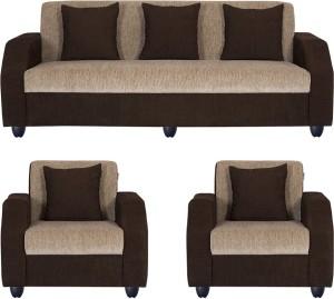 Brilliant Bharat Lifestyle Italia Fabric 3 1 1 Cream Brown Sofa Setconfiguration Straight Download Free Architecture Designs Itiscsunscenecom