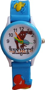 SS Traders Cute Blue Spiderman Analog Watch  - For Boys