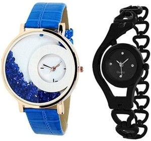 Om Designer Round Shaped Dial Pack of 2 Analog Watch  - For Women