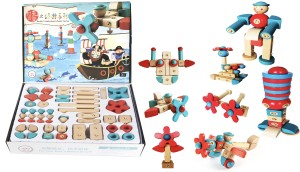 Jack Royal Buckle classic series Educational Wooden Toys Puzzle Blocks