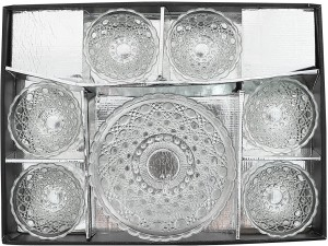 Xudo Serving Bowl Set PACK OF 7 Glass Disposable Bowl Set