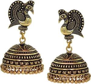 6bfcf1a74a V L IMPEX Dancing Peacock Style Black Metal Gold Palted Oxidized Alloy  Jhumki Earring Best Price in India | V L IMPEX Dancing Peacock Style Black  Metal Gold ...
