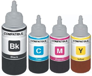 Print Cartridge GI-790 Ink Set For Canon G1000, G2000, G3000 (Balck-100ml, Cyan-70ml, Yellow-70ml, Magenta-70ml) Multi Color Ink