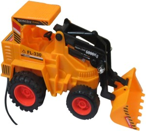 Dcs Remote Control Battery Operated Jcb Crane Truck Toy Yellow Best