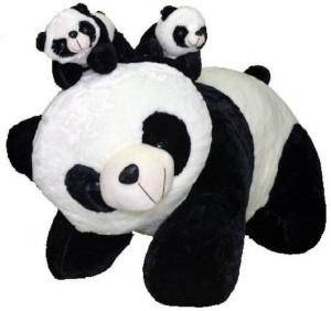 ToyHub Panda With 2 Baby  - 60 cm