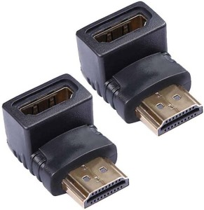 Redeemer Pack of 2 Female To Male L Shape HDMI Connector