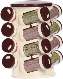 Avenue Spice Rack 16 IN 1, Assorted Color, Food Grade Plastic Storage Rack 1 Piece Spice Set
