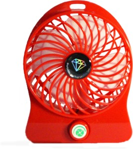 Kumar Retail Rechargeable Table Fan With Power Bank Portable Rechargeable USB MINI_R01 USB Fan