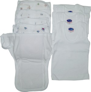 Xchildhood White Diaper Nappy And Vest .