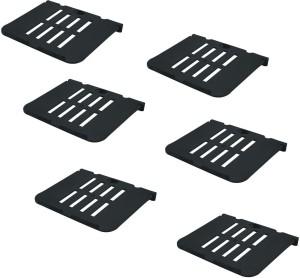DECZO Set of 6 Multipurpose Set top Box/ Speaker Plastic Wall Shelf