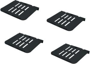 DECZO Set of 4 Multipurpose Set top Box/ Speaker Plastic Wall Shelf