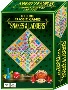Sterling Deluxe Classic Game Snakes & Ladders Board Game